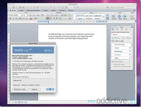 Word 2011 For Mac Review: What's New?