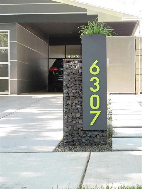Custom Gabion Mailbox and House Numbers In The Phoenix