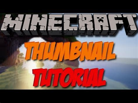 (Free) How To Make A Good Minecraft Thumbnail With Gimp