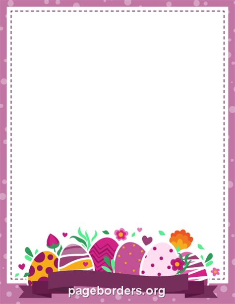 Purple Easter Border: Clip Art, Page Border, and Vector