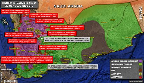 Military Situation In Yemen On May 30, 2020 (Map Update)