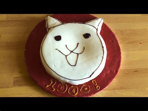 The Battle Cats CAKE!   1000 Subscriber Special! - YouTube