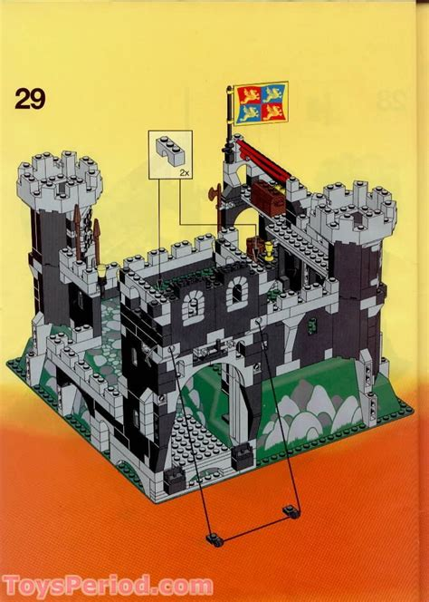LEGO 6086 Black Knight's Castle Set Parts Inventory and