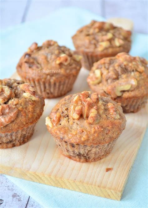 Havermout muffins met banaan - Havermout muffins
