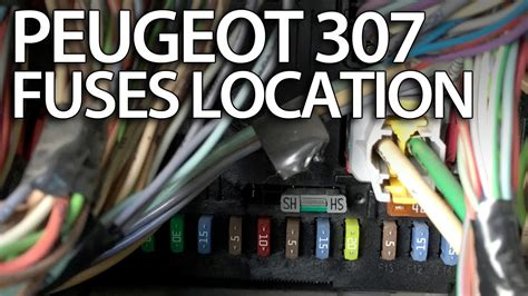 Where are fuses, relays and OBD port in Peugeot 307 (fuse