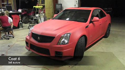 Plasti Dip Whole Car Matte Red Cadillac CTS-V - YouTube