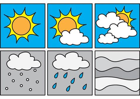 Coloring Page pictograms weather 1 - free printable
