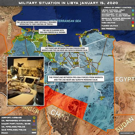 Military Situation In Libya On January 15, 2020 (Map Update)