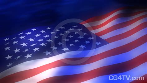 American Flag 3D Royalty-Free Animation