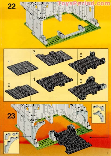 LEGO 6074 Black Falcon's Fortress Set Parts Inventory and