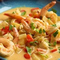 Scampi's Met Rode Curry recept   Smulweb