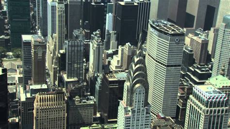 Manhattan and Chrysler Building Aerial View Video HD
