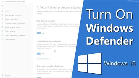How To Turn on Windows Defender in Windows 10 [2019