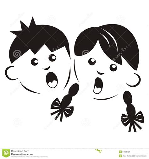 Boy And Girl , Silhouette Stock Vector - Image: 51636794