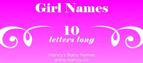 Big list of girl names that are 10 letters long